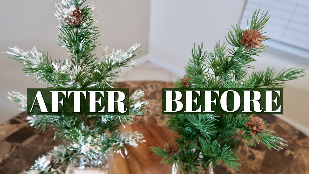 One Ingredient Christmas Tree Garland Flocking Dollar Tree Diy Easy Method