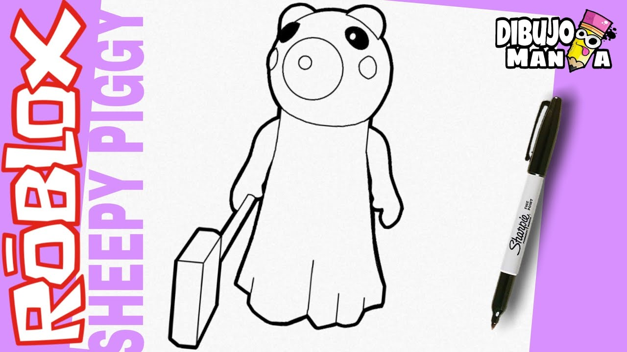 Dibujos De Roblox Para Colorear De Piggy Como Dibujar A Sheepy De Piggy Roblox Dibujos De Piggy Roblox Sheepy Piggy Facil Youtube