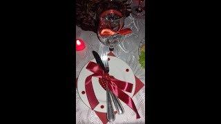 Идея сервировки стола на день св.Валентина