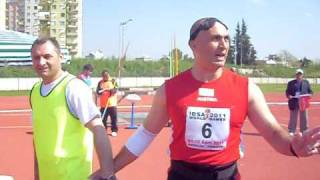 İBSA 2011....Can't seeing the world record for the javelin throw. 54.68m.