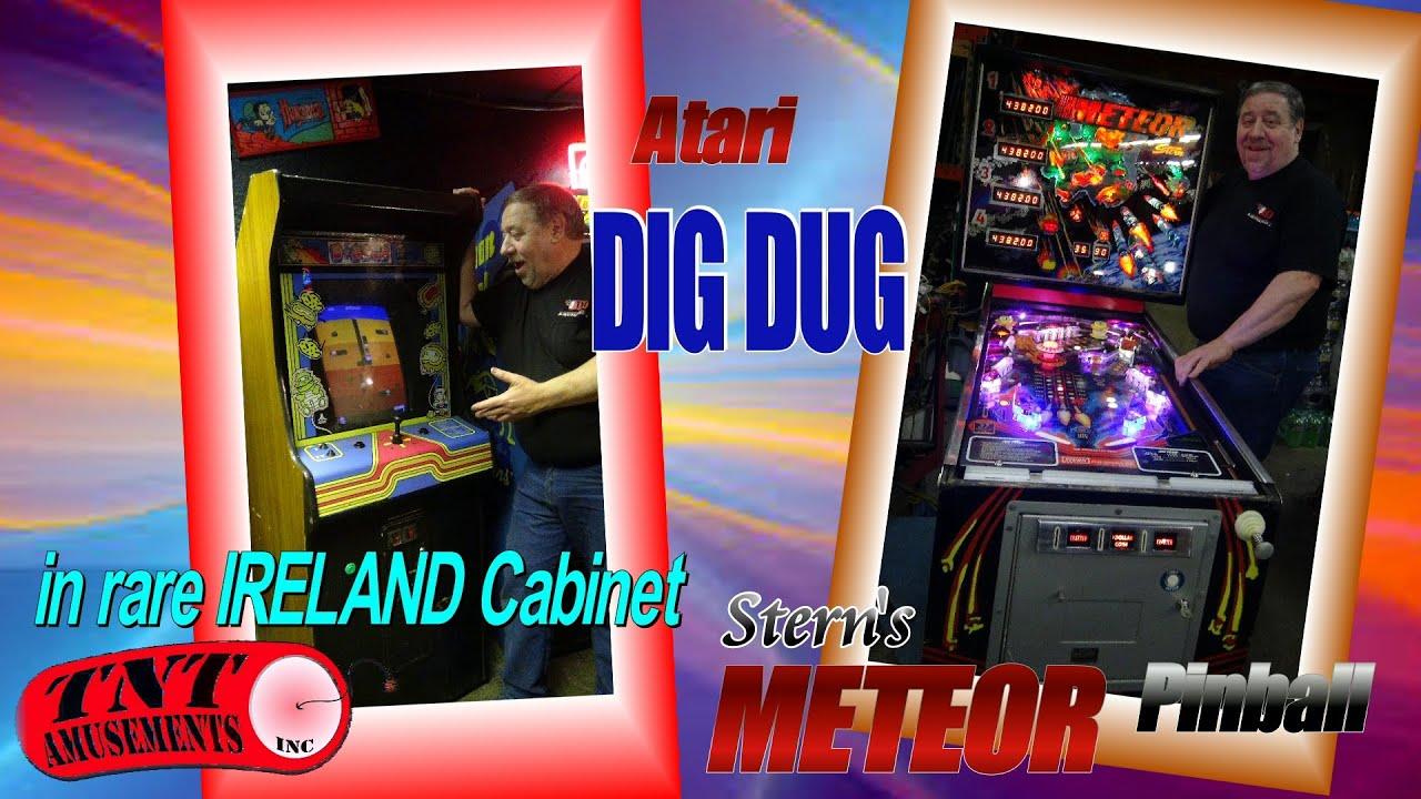 1118 Atari DIG DUG in Rare Ireland Cabaret Cabinet & Stern METEOR ...