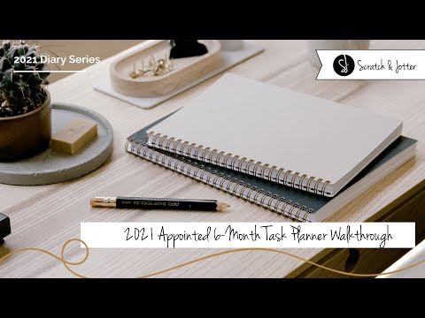 2021 Appointed 6 Month Task Planner Walk Through | Scratch & Jotter