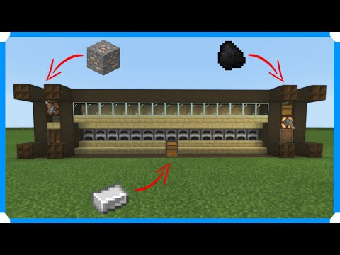 How To Build A Furnace Array [Minecraft Bedrock Edition]