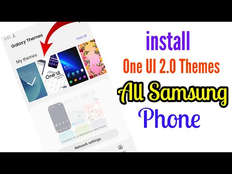 Install One UI 2.0 Themes All Samsung Phone