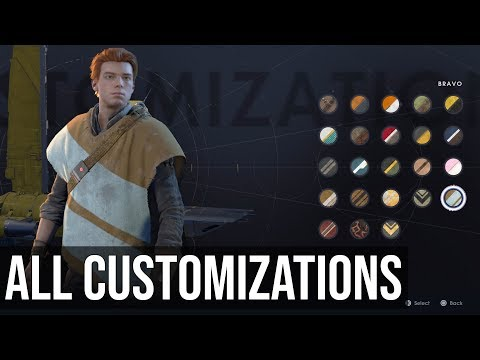 All Customization Items (Ponchos, Outfits, BD-1 & Mantis) Showcase - Star Wars Jedi Fallen Order from YouTube · Duration:  4 minutes 10 seconds
