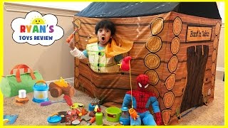 Pretend Play Food Toy Camping & Fishing! Fun Activities for Kids! Cooking Kinder Egg Surprise Toys thumbnail