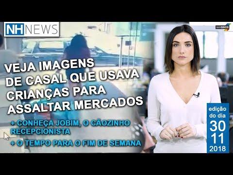 NH News: Imagens mostram casal que usa crianças para furtos em mercados da região