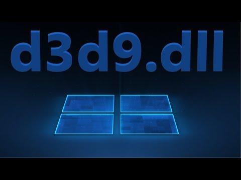 Скачать D3d9.dll и исправить ошибку в Windows 10/7