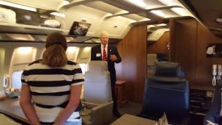 Inside of Air Force One at the Reagan Library