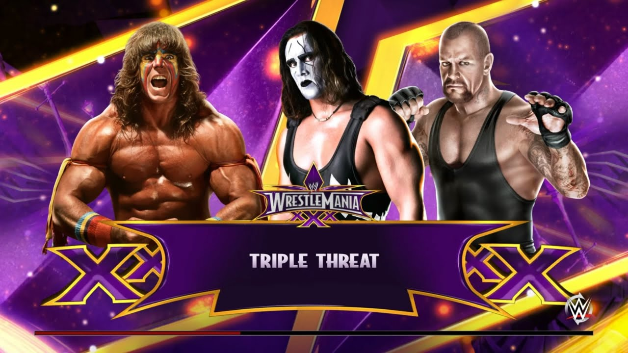 Sting vs Ultimate Warrior vs Undertaker Wrestlemania ...