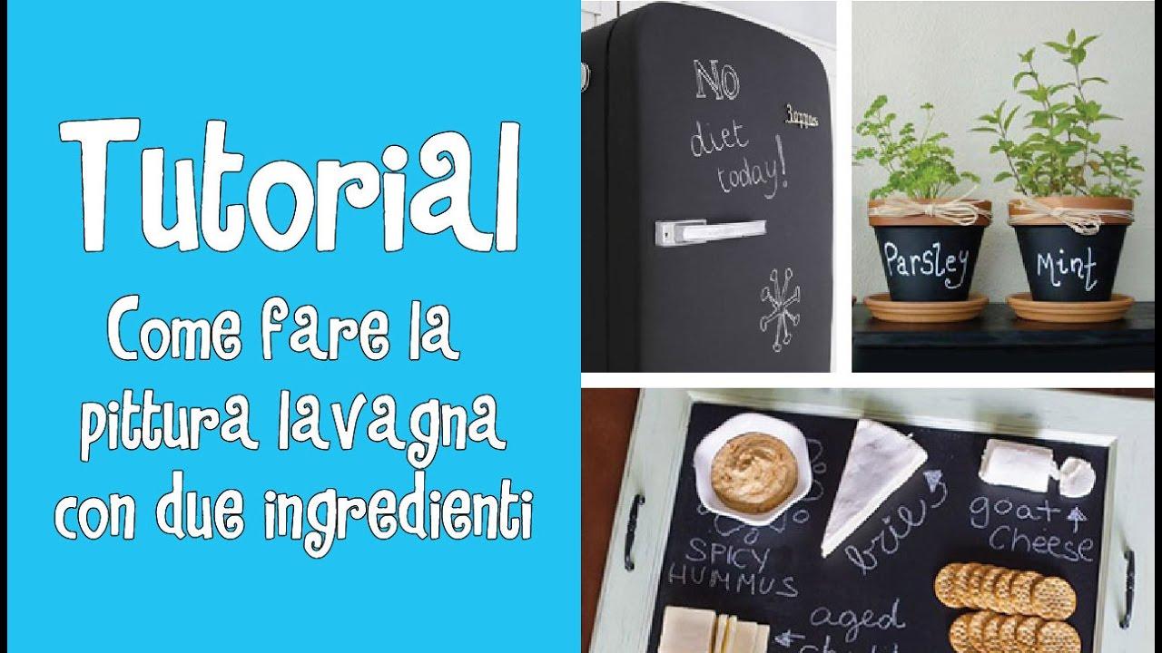 Vernice Lavagna Magnetica Colorata tutorial -come fare la pittura lavagna con due ingredienti^^