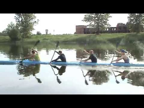 Flatwater Kayak Training In Dobrotvir. K-4. (1)