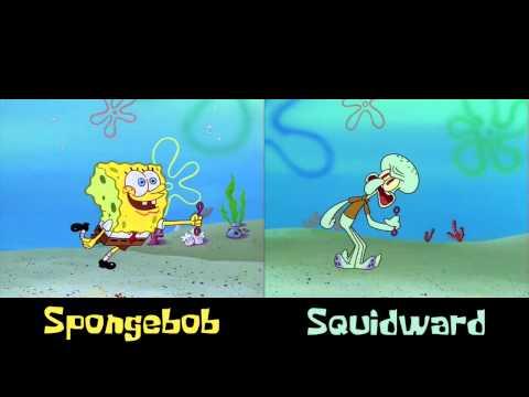 "Spongebob vs. Squidward ""Technique"" (Real-Time Comparison)"