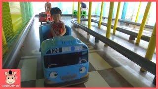 타요 키즈 카페 중앙차고지 어린이 놀이 ♡ 미니 타요버스 자동차 장난감 toys Tayo the little bus тайо автобус | 말이야와아이들 MariAndKids