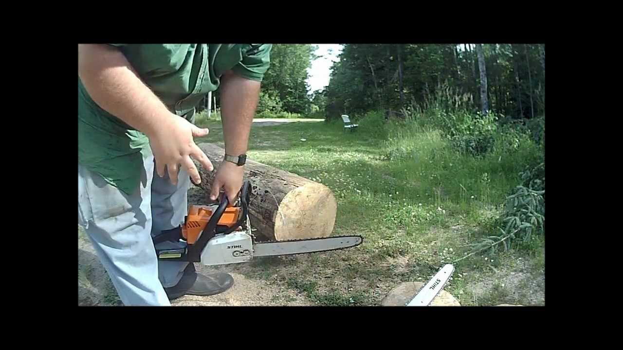 Stihl ms 170 with Oregon Powersharp 16