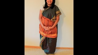 How to drape a Tamil Iyengar Madisar - 6 Yard