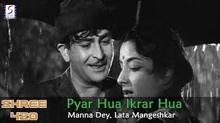 Gambar cover Pyar Hua Ikrar Hua - Manna Dey, Lata Mangeshkar @ Shree 420 - Raj Kapoor, Nargis
