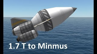 1.7 ton to Minmus  and back - KSP
