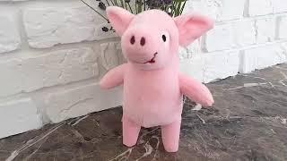 Мягкая игрушка свинка поросенок Пупсик розовый (символ 2019 года) обзор