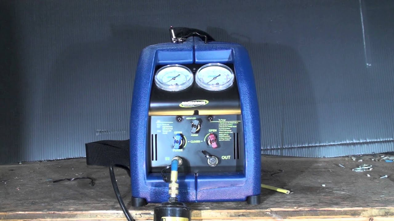 Introduction To The Refrigerant Recovery Machine Youtube