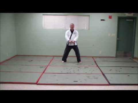 Learn - Tang Soo Do - KI CHO HYUNG E BU - Basic Form # 2 - step by step