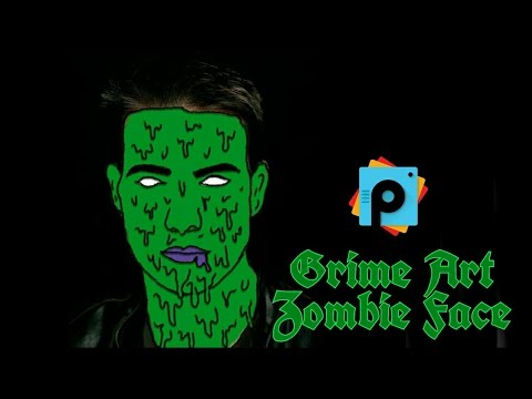 PicsArt Editing Tutorial | Grime Art on face | Zombie Face Effect | PicsArt Best  HD