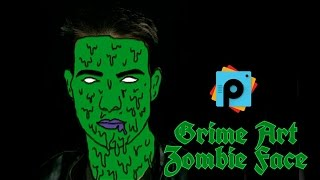 PicsArt Editing Tutorial | Grime Art on face | Zombie Face Effect | PicsArt Best  HD