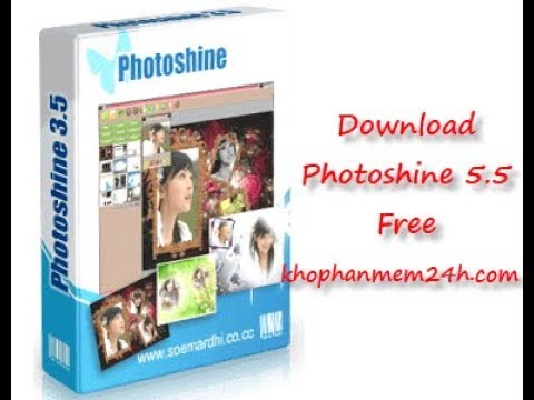 How To Download And Install Photoshine 5.5 | Phần Mềm Ghép Khung ảnh