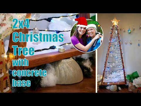 DIY Alternative 2x4 Wood Christmas Tree