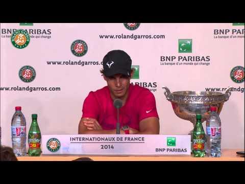 Roland Garros 2014 Final Interview Nadal