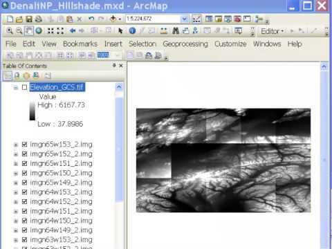 National Elevation Dataset and Hillshade Rasters