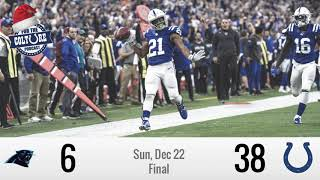 Week 16 Recap: Colts (38) vs Panthers (6) | Nyheim Hines Delivers A Historic Early Christmas Present
