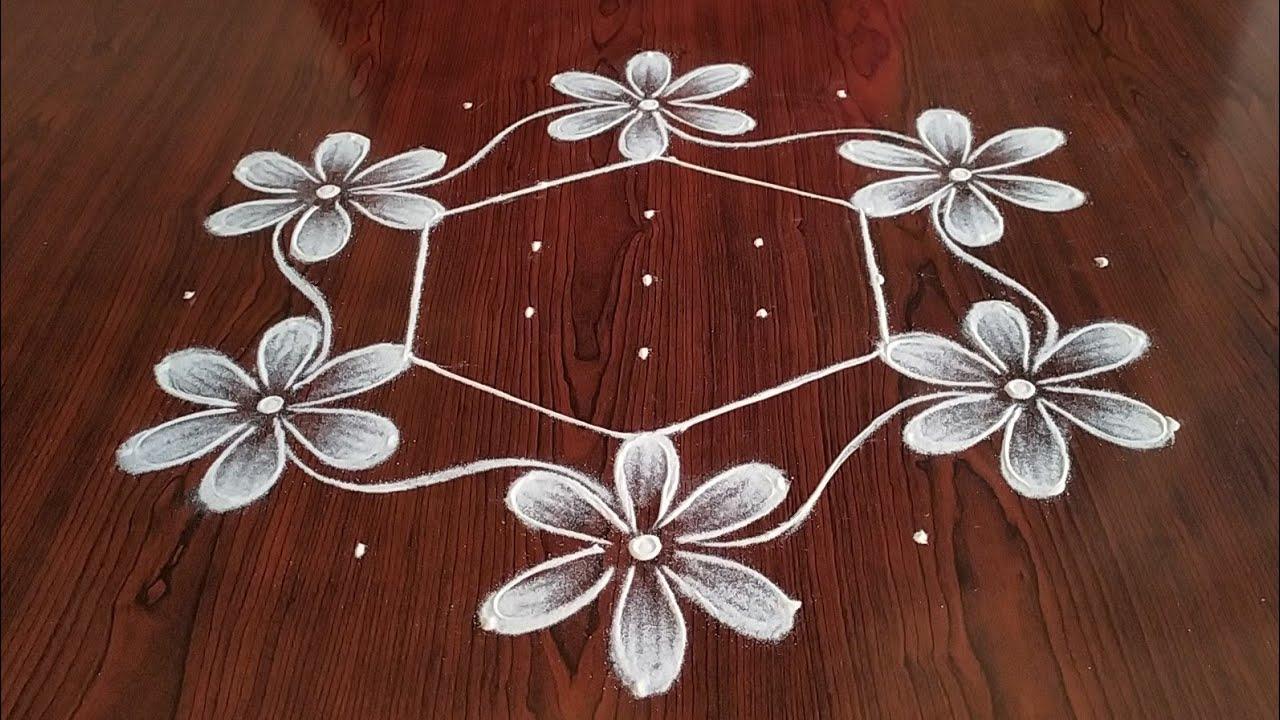 vijayadasami special rangoli (9×5) Dots..