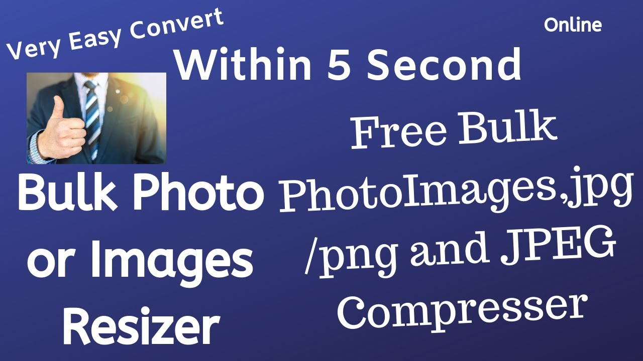Bulk Compress Jpg Jpeg And Png Images Less Than 5 Sec Bulk Image Resizer Compress Png Files Youtube