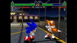 Fighting Vipers 1 [Arcade] - play as Sonic & Tails (unused)