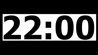 22 Minute Countdown Timer with Alarm