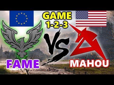 World of Tanks - EU vs NA - FAME vs MAHOU - GAME 1-2-3 - Himmelsdorf - Cliff thumbnail