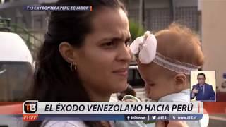 El éxodo venezolano hacia Perú