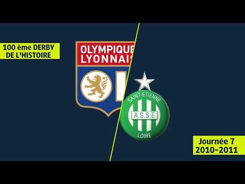 Victoire de l'ASSE dans le 100ème Derby (1-0) OL/ASSE - 2010/2011 - Ligue 1 Legends