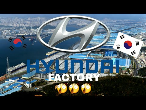 Hyundai ulsan plant south korea 4k mavic pro 현대자동차 공장 울산 DJI
