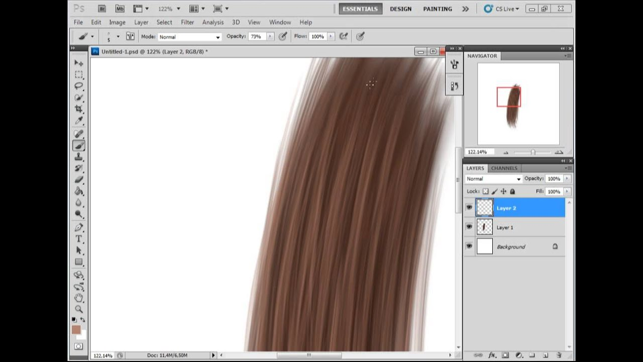 Фотошоп cs6 нарисовать волосы