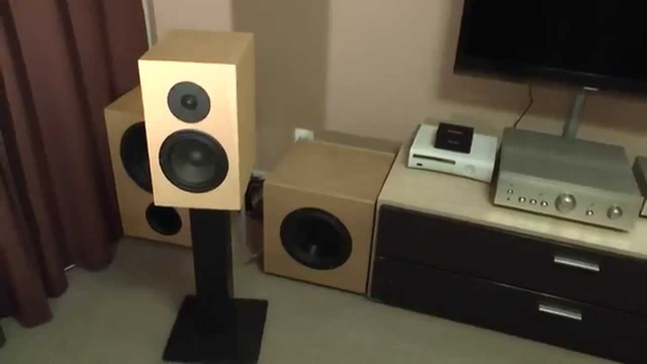 My system audio Diy Speakers Seas ER18RNX + 27TDFC part 2