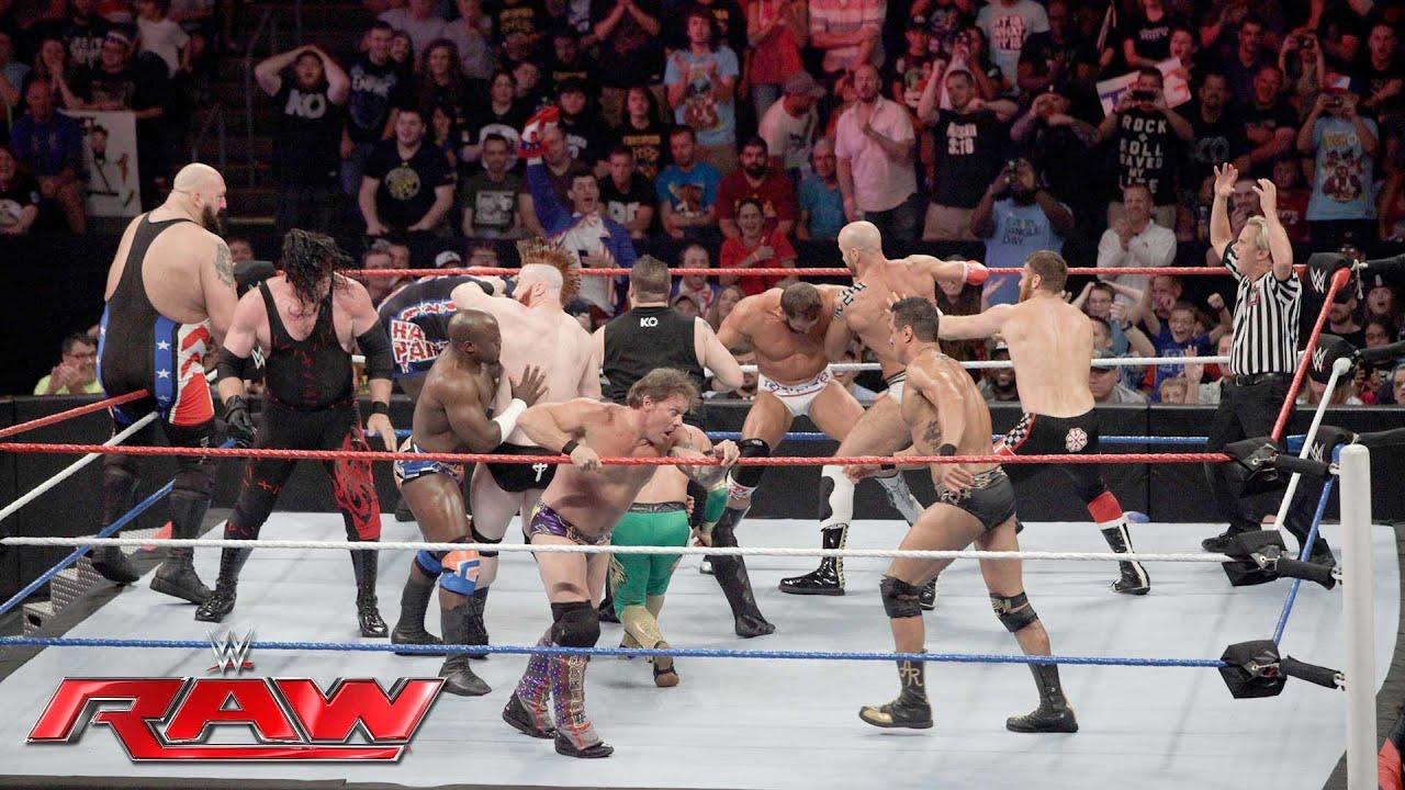 Download Team U.S.A. vs. The Multinational Alliance– 16-Man Elimination Tag Team Match: Raw, 4. Juli 2016