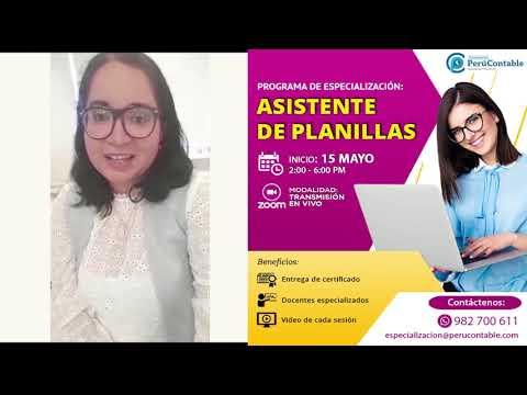 PROGRAMA DE ESPECIALIZACIÓN EN ASISTENTE DE PLANILLAS