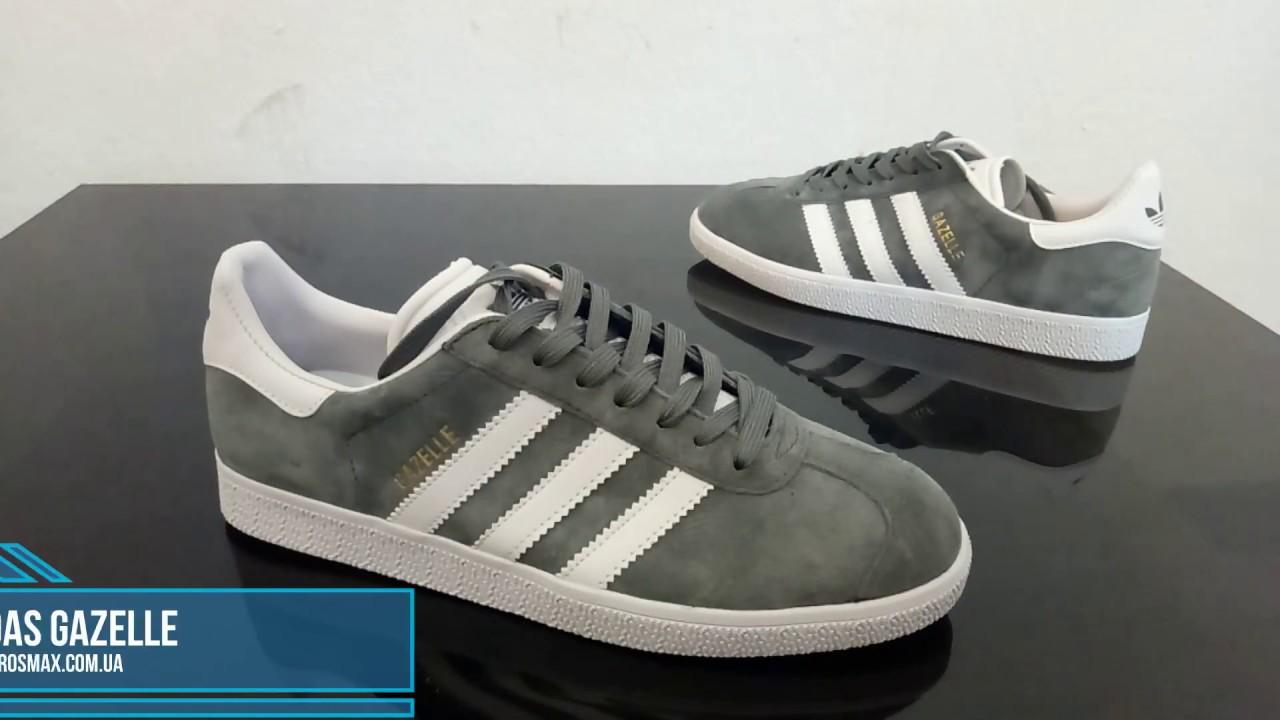 7d696218 Живой видео обзор Adidas Gazelle Grey-White (реплика) - YouTube