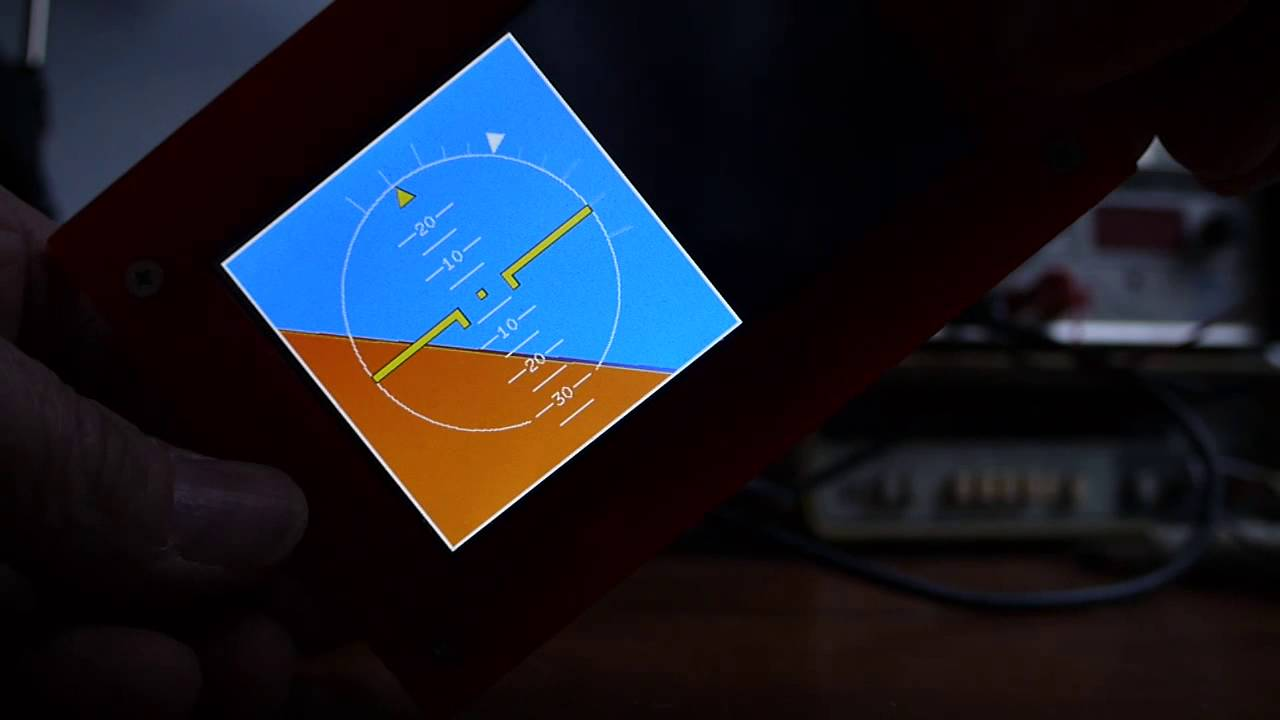 Attitude indicator running on a micromite youtube