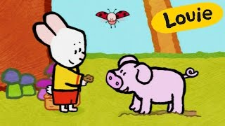 Pig - Louie draw me a pig | Learn to draw, cartoon for children