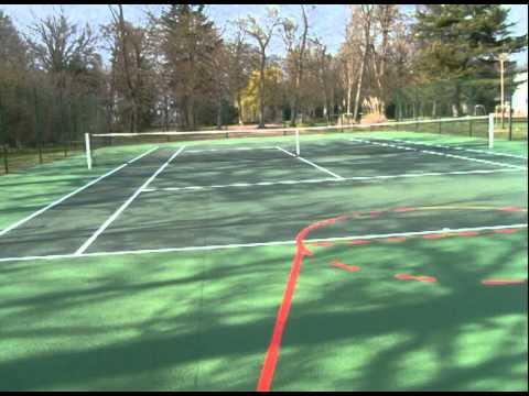 construction de terrain de tennis crea terre youtube. Black Bedroom Furniture Sets. Home Design Ideas