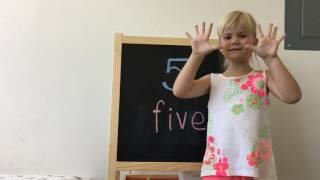 ЦИФРЫ от 1 до 10  / СЧЁТ по-английски / Английский для детей / Мисс Ева из Америки