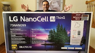 Large Lg Nanocell 8k Ultrahd 75 Inch Tv 2020 Unboxing: My First Nanocell Tv